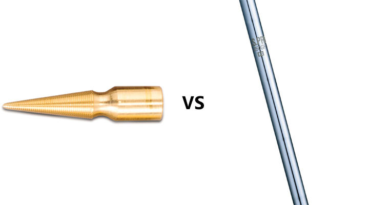 What is the difference between tapered and parallel shafts?